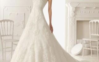 Свадебное платье А — силуэта