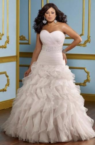 Пышные свадебные платья для полных