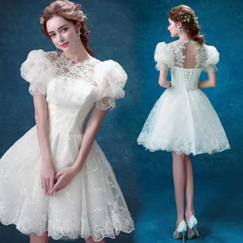 короткое свадебное платье фонарик