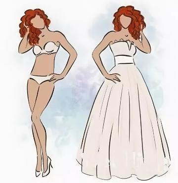 Модное свадебное платье для фигуры Прямоугольник